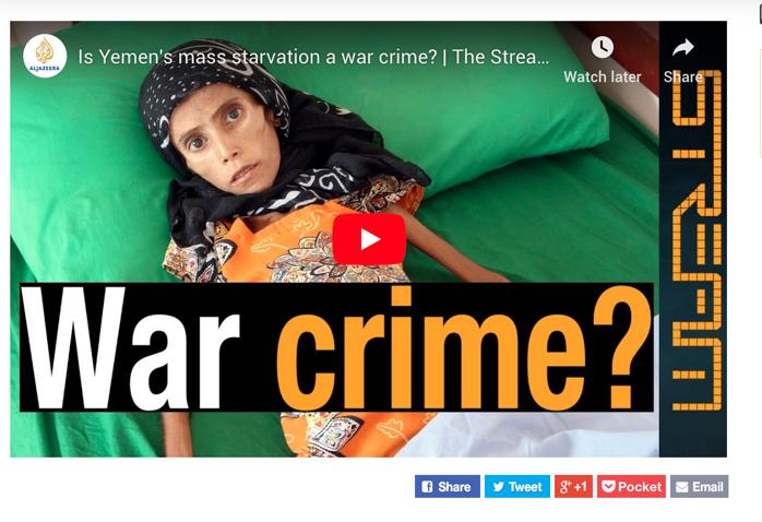 Al Jazeera, live stream this evening  - starvationaccountability